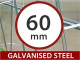 Greenhouse Polycarbonate Extension, Strong, 6 m², 3x2 m, Silver - 6