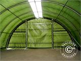 Arched storage tent 9.15x12x4.5 m PE, w/ skylight, Green - 18