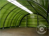 Arched storage tent 9.15x12x4.5 m PE, w/ skylight, Green - 33