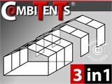 Carpa para fiestas, SEMI PRO Plus CombiTents® 5x10m, 3 en 1, Blanco - 2