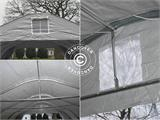 Portable double garage 5.4x6x2.9 m PVC, Grey - 10