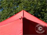 Vouwtent/Easy up tent FleXtents Basic, 3x3m Rood, inkl. 4 Zijwanden - 3
