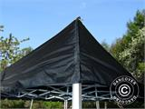 Pop up gazebo FleXtents PRO Peak Pagoda 6x6 m, Black, Incl. 8 sidewalls - 26