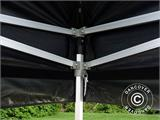 Pop up gazebo FleXtents PRO Peak Pagoda 6x6 m, Black, Incl. 8 sidewalls - 27