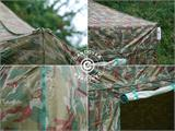 Pop up gazebo FleXtents PRO 3x3 m Camouflage/Military, incl. 4 sidewalls - 12
