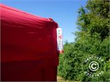 Pop up gazebo FleXtents Xtreme 60 3x3 m Red, incl. 4 sidewalls - 10