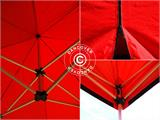 Pop up gazebo FleXtents Xtreme 50 3x3 m Red, incl. 4 sidewalls - 12