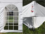 Carpa plegable FleXtents PRO Vintage Style 3x3m Blanco, Incl. 4 lados - 12