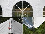 Pop up gazebo FleXtents PRO Vintage Style 4x6 m White, incl. 8 sidewalls - 13