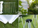 Carpa plegable FleXtents PRO 3x3m Blanco, Incl. 4 lados - 7