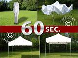 "Vouwtent/Easy up tent FleXtents PRO ""Wave"" 3x3m Wit, inkl. 4 Zijwanden - 10"
