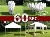 "Vouwtent/Easy up tent FleXtents PRO ""Wave"" 3x6m Wit, inkl. 6 decoratieve gordijnen - 10"