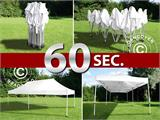 Pop up Gazebo FleXtents Xtreme Heavy Duty 3x6 m White, incl. 6 sidewalls - 1