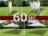Pop up gazebo FleXtents Xtreme 4x4 m White, Flame retardant, incl. 4 sidewalls - 1