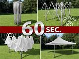 Pop up gazebo FleXtents Pagoda Xtreme 3x3 m / (4x4 m) White, incl. 4 sidewalls - 1