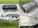 Pop up gazebo FleXtents PRO 3x6 m White, Flame retardant, incl. 6 sidewalls - 5