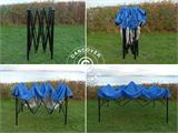 Pop up gazebo FleXtents Light 2.5x2.5 m Blue, incl. 4 sidewalls - 4