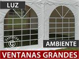 Carpa para fiestas, SEMI PRO Plus CombiTents® 5x10m, 3 en 1, Blanco - 7