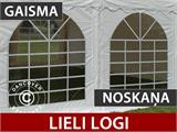 Pasākumu Telts Exclusive 6x12m PVC, Balts, Panorama - 5