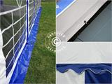 Marquee Exclusive 6x12 m PVC, Blue/White - 13