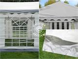 Partytent PLUS 4x10m PE, Grijs/Wit - 12