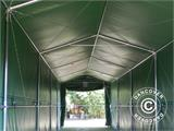 Storage shelter PRO XL 4x10x3.5x4.59 m, PVC, Green - 13