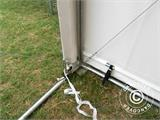 Storage shelter PRO XL 4x10x3.5x4.59 m, PVC, White - 9