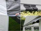 Partytent PLUS 4x10m PE, Grijs/Wit - 6