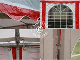 Marquee Exclusive 6x12 m PVC, Red/white - 10