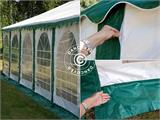 Marquee Exclusive 6x12 m PVC, Green/White - 4