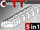Tente de réception, Exclusive CombiTents® 6x14m 5-en-1, Blanc - 1