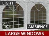 "Marquee Original 4x8 m PVC, ""Arched"", White - 4"