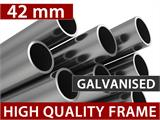 Marquee Exclusive 6x10 m PVC, Grey/White - 6