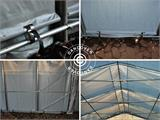 Storage shelter PRO 7x14x3.8 m PVC, Grey - 3
