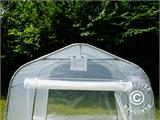 Serre tunnel, 2,4x3,6x2,4m, PE, 8,6m², Transparent - 13