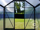Greenhouse Polycarbonate 3.64m², 1.9x1.92x2.01 m, Green - 9