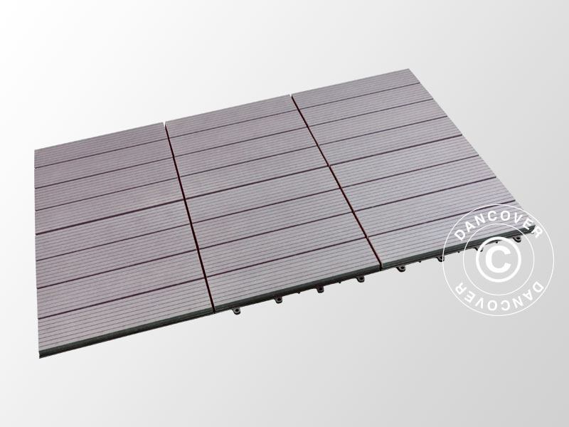 Piastrelle In Wpc Per Pavimenti Esterni 0 3x0 3m Grigio