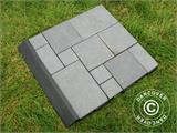 Decking tiles, Edge Piece, Click-Floor, 30 cm, Grey, 4 pcs. - 2