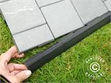Decking tiles, Edge Piece, Click-Floor, 30 cm, Grey, 4 pcs. - 5