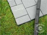 Decking tiles, Edge Piece, Click-Floor, 30 cm, Grey, 4 pcs. - 6