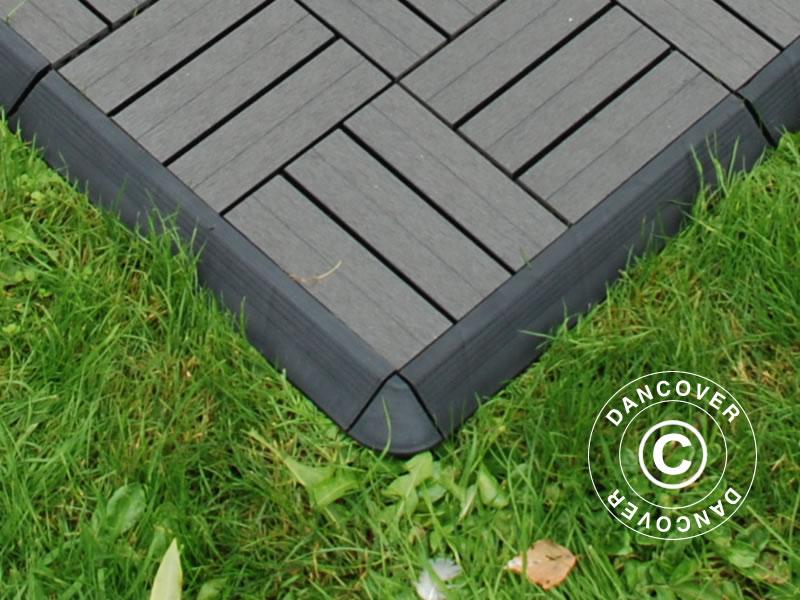 Piastrelle per pavimenti esterni profilo angolare pavimento con sistema a click 4 pz - Angolari per piastrelle ...