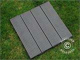 Decking tiles WPC Click-Floor, Lines, 30x30 cm, 9 pcs/box, Grey - 1