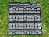 Decking tiles WPC Click-Floor, Lines, 30x30 cm, 9 pcs/box, Grey - 2