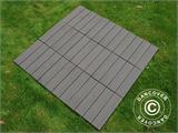 Decking tiles WPC Click-Floor, Lines, 30x30 cm, 9 pcs/box, Grey - 4