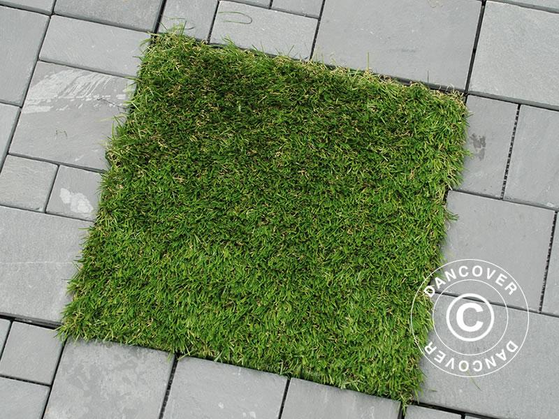 Kunstgras Op Tegels : Vloerbedekking tegels klikvloer kunstgras 30x30cm 9 stuks doos