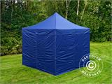 Carpa plegable FleXtents Xtreme 50 3x3m Azul oscuro, Incl. 4 lados - 3