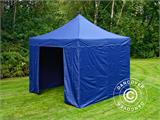 Carpa plegable FleXtents Xtreme 50 3x3m Azul oscuro, Incl. 4 lados - 4