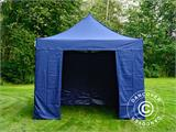 Carpa plegable FleXtents Xtreme 50 3x3m Azul oscuro, Incl. 4 lados - 7