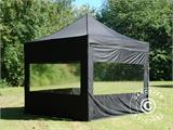 Pop up gazebo FleXtents PRO 3x3 m Black, incl. 4 sidewalls - 1