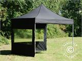 Pop up gazebo FleXtents PRO 3x3 m Black, incl. 4 sidewalls - 2